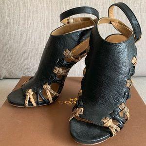 Coach Jody Leather/Printed Python Heel